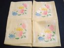 VINTAGE DAMASK NAPKINS SET OF FOUR