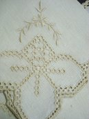 DRAWNTHREAD WORK NAPKINS SET OF FOUR