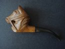 Carved Figural Pipe Signed LMB BREVETE