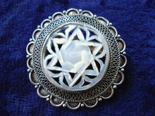 Antique Filigree Brooch/Pendant
