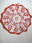 Vintage Potholder - Hand Crocheted