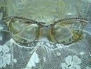 50's Jeweled Eyeglasses White Gold Filled