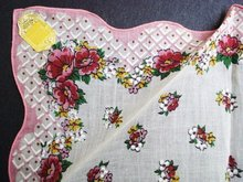 Pretty Floral Vintage Hankie - Unused