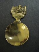 Tea Caddy Spoon Warwick Castle Handle