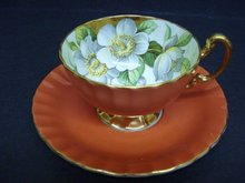 HEIRLOOM AYNSLEY TEACUP SET CUP & SAUCER