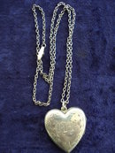 ANTIQUE STERLING LOCKET MONOGRAMS