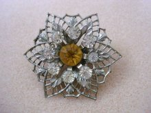 Vintage Filigree Broach Silver tone finish