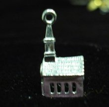 Sterling Silver Charm - Church