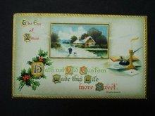 Christmas Postcard On The Eve of Christmas