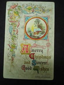 1910 Christmas Postcard Never used