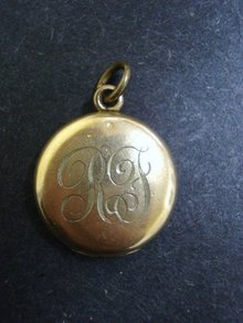 Victorian LOCKET Monogram R F