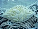 Exquisite Hand Carced Ivory BROOCH Pin