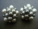 Beautiful Silvery Grey Pearl Earrings Clip Style