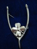 Marvelous Sterling Silver Brooch by Lang - Wishbone