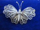 Vintage Filigree  Brooch  Butterfly