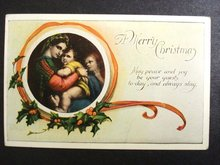 Postcard Merry Christmas 1924