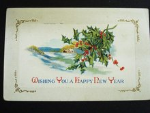 Superb 1916 Postcard Happy New Year