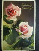 Postcard Birthday Greetings 1938