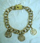 Precious 14k Gold Bracelet & Charms   Antique    Vintage