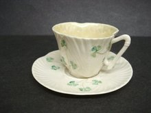 Wonderful Demitasse Cup and Saucer Irish Belleek