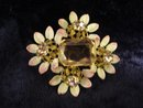 Quality Brooch Austrian Crystal and Enamel