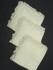 Set of 3 Vintage Napkins