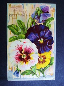 Vintage Greeting Postcard
