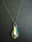 Vintage Crystal Pendant - Faceted Teardrop