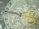 Antique Scissors French Ivory Handles