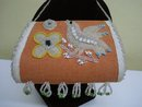 Iroquois whimsey Purse with Bird and Flowers