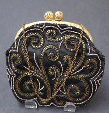 Beaded Evening Purse Made in France