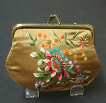 Change Purse Embroidery on Satin