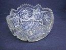 Pressed Glass Bowl Sawtooth Edge