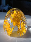 Egg Shape Paperweight  Saffron  Yellow