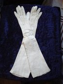 Long Leather Gloves Late Victorian