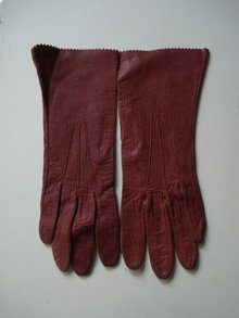 Vintage Gloves  Elegant  Burgundy - Brown Colour
