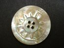 Antique Pearl  Button Hand Carved