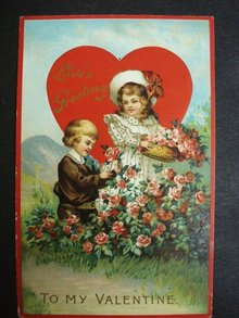 Valentine Postcard Love's Greeting