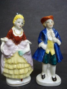 Beautiful Vintage Pair Figurines  Signed Occupied Japan