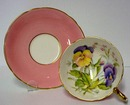 Aynsley Cup & Saucer Artist Signed