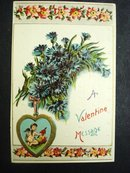 Beautiful Valentine Message Postcard