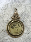 Victorian Portrait Pendant - Real Photo