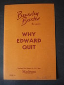 Why Edward Quit by Beverley Baxter