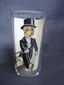 Rare Charlie Mc Carthy Drinking Glass Sterling Silver Overlay
