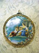 Magnificent Limoges Pendant Enamel on Porcelain