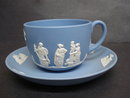 Fabulous Cup & Saucer Jasperware Teacup Set   Circa 1947