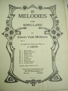 10 Melodies by E V McIntyre