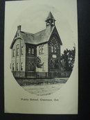 Vintage Post Card Public School Ontario