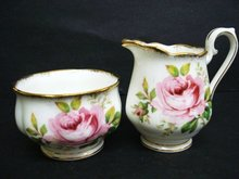 Cream and Sugar Set by Royal Albert