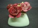Staffordshire China Roses/ Vase